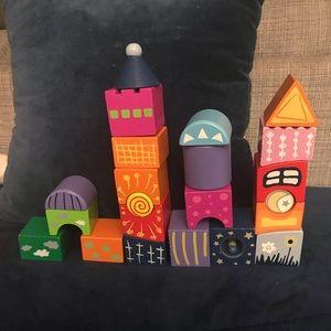 HAPE castle 22 piece set of wooden blocks